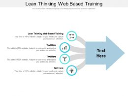 Lean Thinking Web Based Training Ppt Powerpoint Presentation Infographics Introduction Cpb