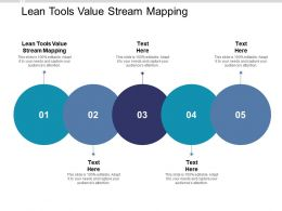 Lean Tools Value Stream Mapping Ppt Powerpoint Presentation Summary Elements Cpb