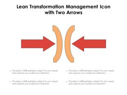 Lean Transformation Management Icon With Two Arrows
