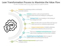 Lean Transformation Process To Maximize The Value Flow