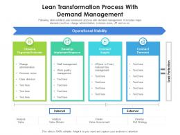 Lean Transformation Process With Demand Management