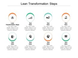 Lean Transformation Steps Ppt Powerpoint Presentation Icon Layouts Cpb