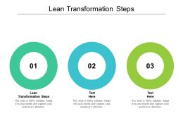 Lean Transformation Steps Ppt Powerpoint Presentation Portfolio Designs Download Cpb