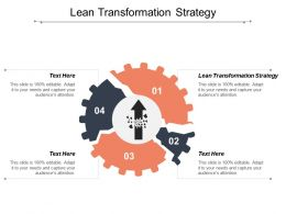 Lean Transformation Strategy Ppt Powerpoint Presentation Ideas Background Designs Cpb