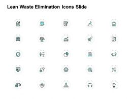 Lean Waste Elimination Icons Slide Measure Ppt Powerpoint Presentation Icon Layouts
