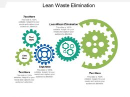 Lean Waste Elimination Ppt Powerpoint Presentation Icon Clipart Cpb
