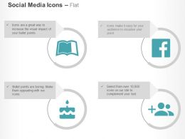 Leanpub Facebook Add User Ppt Icons Graphics