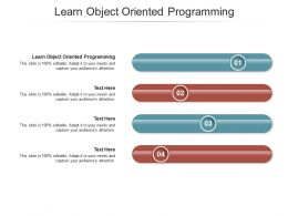 Learn Object Oriented Programming Ppt Powerpoint Presentation Summary Display Cpb