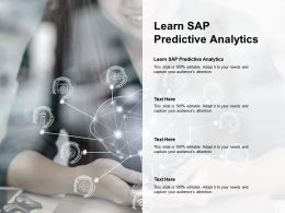 Learn Sap Predictive Analytics Ppt Powerpoint Presentation Ideas Outfit Cpb