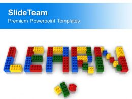 Learn Word With Lego Blocks PowerPoint Templates PPT Themes And Graphics 0313