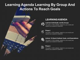 Learning Agenda Learning By Group And Actions To Reach Goals