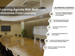 Learning Agenda With Business Outcomes From Learning