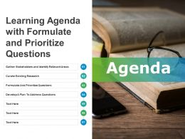 Learning Agenda With Formulate And Prioritize Questions