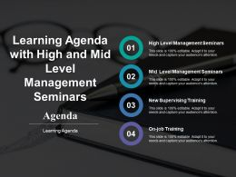 Learning Agenda With High And Mid Level Management Seminars
