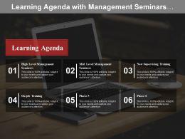Learning Agenda With Management Seminars And Supervising Training