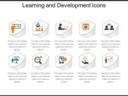 Learning And Development Icons Powerpoint Slide Deck