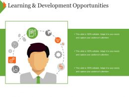 Learning And Development Opportunities Ppt Examples Slides