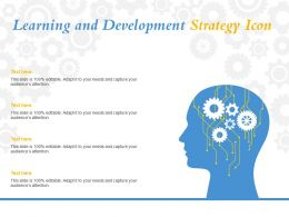 Learning And Development Strategy Icon