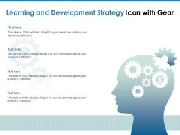 Learning And Development Strategy Icon With Gear
