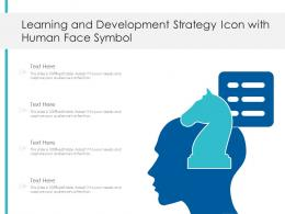 Learning And Development Strategy Icon With Human Face Symbol