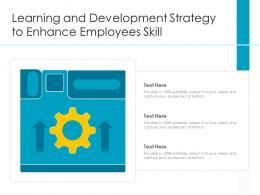 Learning And Development Strategy To Enhance Employees Skill