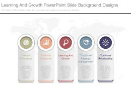 Learning And Growth Powerpoint Slide Background Designs