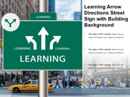 Learning Arrow Directions Street Sign With Building Background