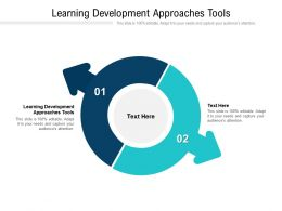 Learning Development Approaches Tools Ppt Powerpoint Presentation Styles Format Ideas Cpb