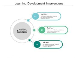 Learning Development Interventions Ppt Powerpoint Presentation Pictures Portfolio Cpb