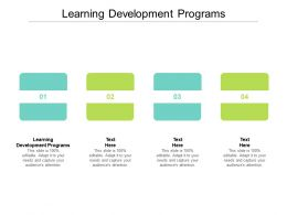 Learning Development Programs Ppt Powerpoint Presentation Ideas Elements Cpb