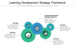 Learning Development Strategy Framework Ppt Powerpoint Presentation Inspiration Information Cpb