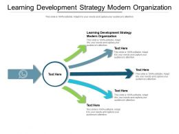 Learning Development Strategy Modern Organization Ppt Powerpoint Presentation Pictures Cpb