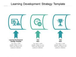 Learning Development Strategy Template Ppt Powerpoint Presentation Icon Backgrounds Cpb