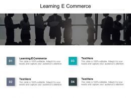 Learning E Commerce Ppt Powerpoint Presentation Styles Introduction Cpb