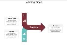 Learning Goals Ppt Powerpoint Presentation Icon Outfit Cpb