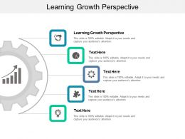 Learning Growth Perspective Ppt Powerpoint Presentation Model Rules Cpb
