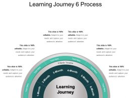 Learning Journey 6 Process PPT Design Templates