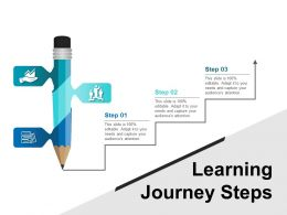 Learning Journey Steps Ppt Sample Presentations