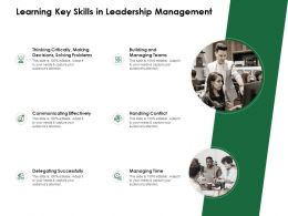 Learning Key Skills In Leadership Management Delegating Successfully Ppt Powerpoint Templates