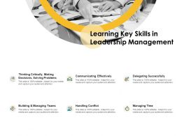 Learning Key Skills In Leadership Management Ppt Powerpoint Ideas