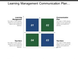 Learning Management Communication Plan Workforce Management Process Mapping Cpb