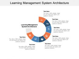 Learning Management System Architecture Ppt Powerpoint Portfolio Cpb