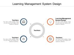 Learning Management System Design Ppt Powerpoint Layouts Cpb