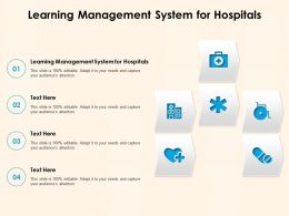 Learning Management System For Hospitals Ppt Powerpoint Presentation Professional Tips