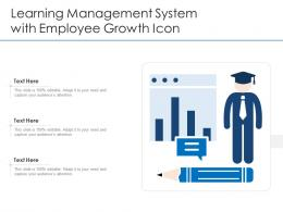 Learning Management System With Employee Growth Icon