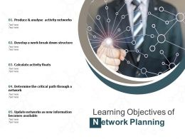 Learning Objectives Of Network Planning