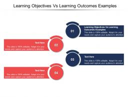 Learning Objectives Vs Learning Outcomes Examples Ppt Powerpoint Presentation Model Topics Cpb