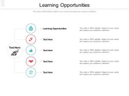 Learning Opportunities Ppt Powerpoint Presentation Slides Graphic Images Cpb