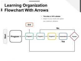 Learning Organization Flowchart With Arrows Ppt Diagrams