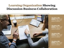 Learning Organization Showing Discussion Business Collaboration